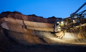 Důl Profen, MIBRAG, Německo
