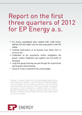 Náhled k PDF EP Energy a.s.  Report on the first three quarters of 2012_Published