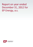 Náhled k PDF EP Energy, a.s. Annual Report 2012