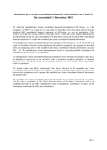 Náhled k PDF EPEnergy, a.s. unaudited pro forma consolidated financial information as of and for the year ended 31 December 2012