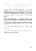 Náhled k PDF EPEnergy, a.s. unaudited pro forma consolidated financial statements as of and for the twelve-month period ended 30 September 2013