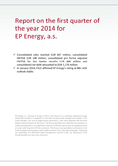 Náhled k PDF Report on the first quarter of the year 2014 for EPEnergy