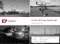 Náhled k PDF Q12014 EPEnergy Results Call