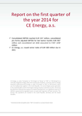 Náhled k PDF Report on the first quarter of the year 2014 for CE Energy