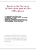 Náhled k PDF CE Energy – Report 3Q 2015