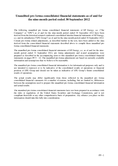 Náhled k PDF EPEnergy, a.s. unaudited pro forma consolidated financial statements as of and for the nine-month period ended 30 September 2012