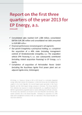 Náhled k PDF Report on the first three quarters of the year 2013 for EPEnergy, a.s. (reissued)