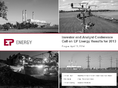 Náhled k PDF EPEnergy, a.s. – Presentation for the Investor and Analyst conference call on EPEnergy results for 2013