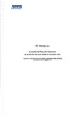 Náhled k PDF EP Energy, a.s. – Consolidated financial statements as of and for the year ended December 31, 2013