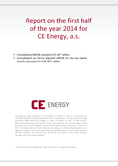 Náhled k PDF Report for the first half 2014 for CE Energy