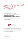 Náhled k PDF EP Energy – Report on the first quarter of 2016